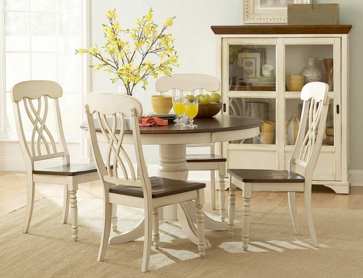 Ohana Round Dining Set - White - Homelegance