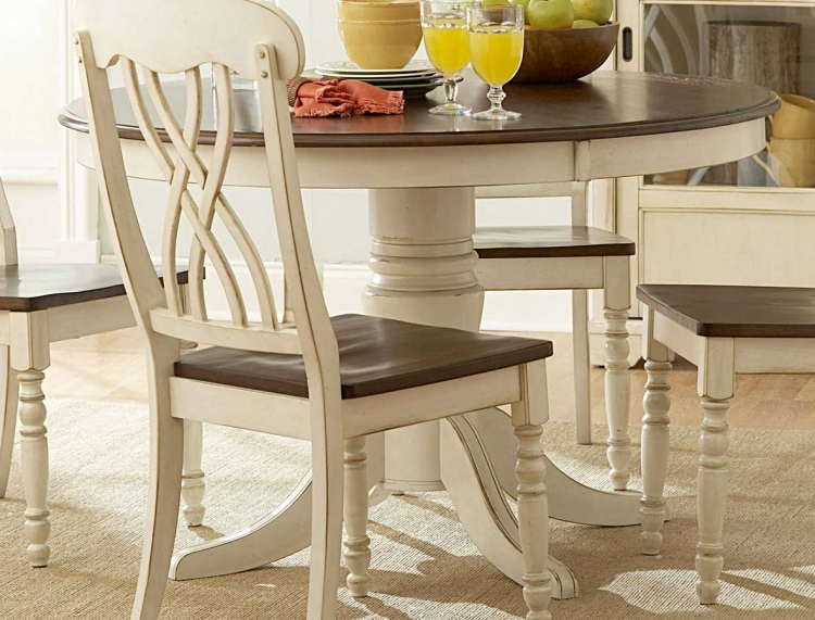 Ohana 48in Round Table - White - Homelegance