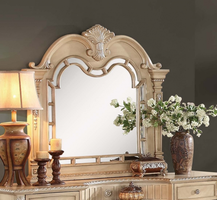 Palace II Mirror - Antique White