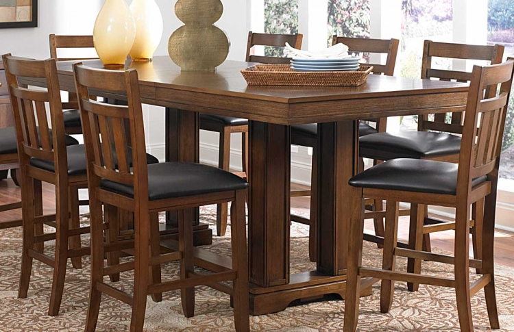 Kirtland Trestle Counter Height Table