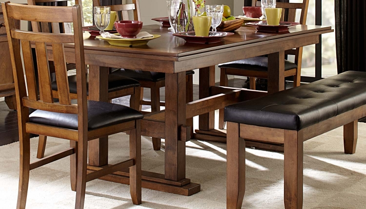 Kirtland Dining Table - Warm Oak