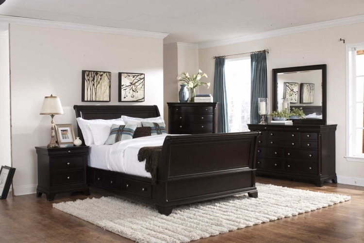 Inglewood Sleigh Platform Bedroom Set - Homelegance