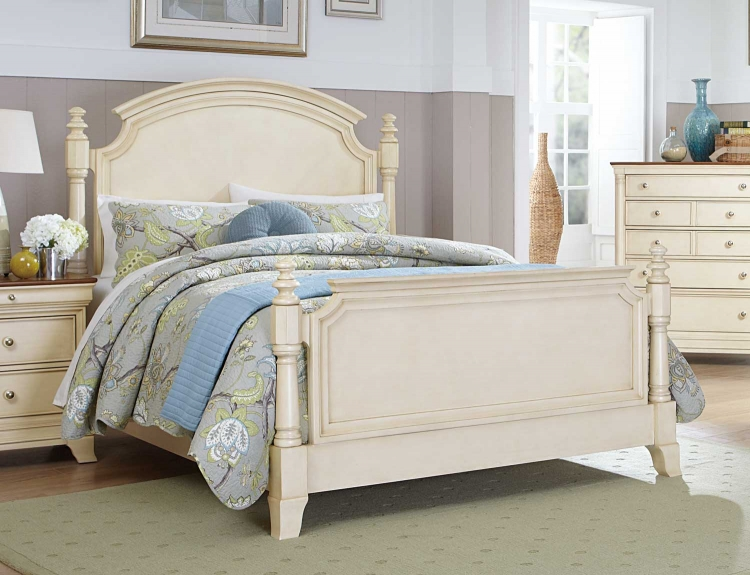 Inglewood II Panel Bed - White Finish