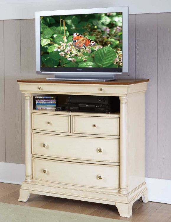 Inglewood II TV Chest - White Finish - Homelegance