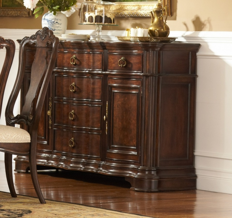 Perry Hall Server with Marble Insert - Homelegance