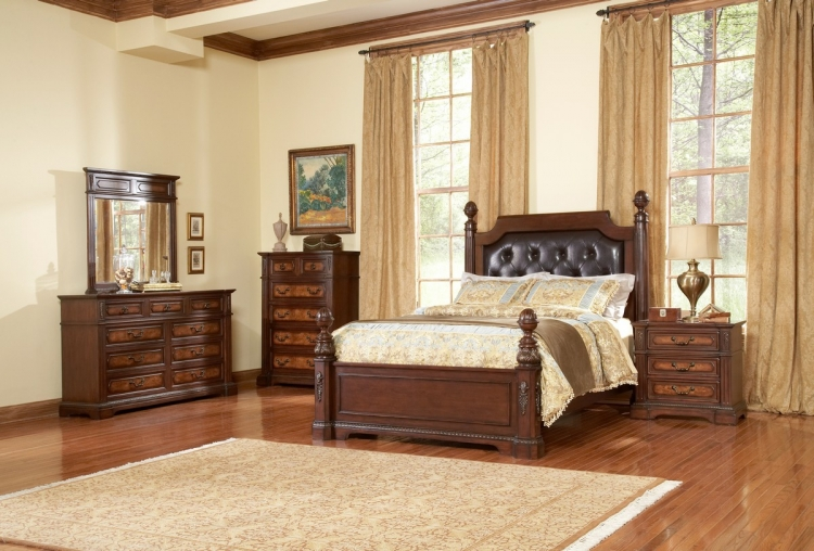 Bermingham Low Post Panel Bedroom Set - Homelegance