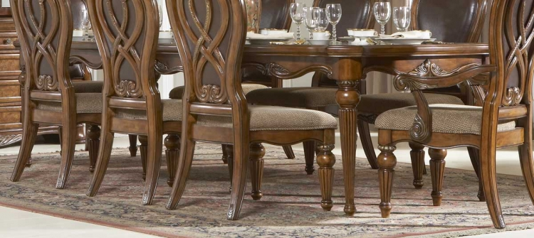 Golden Eagle Dining Table - Homelegance