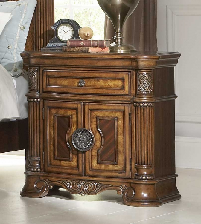 Golden Eagle Night Stand - Homelegance