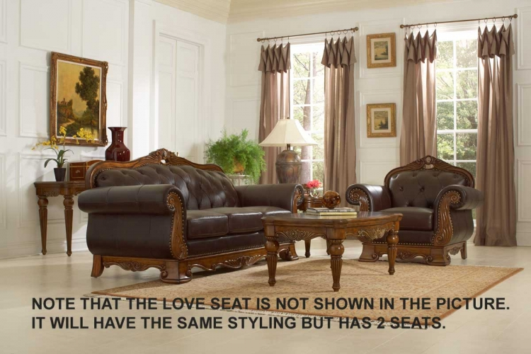 Golden Eagle Love Seat - Homelegance