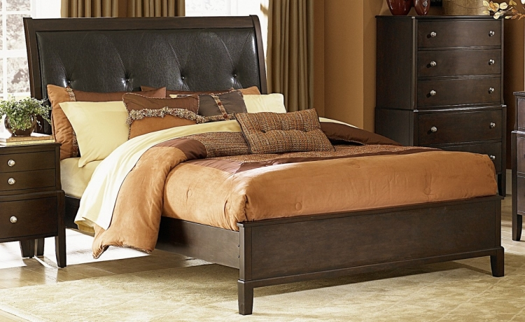Sedona Bed with Leatherette Headboard