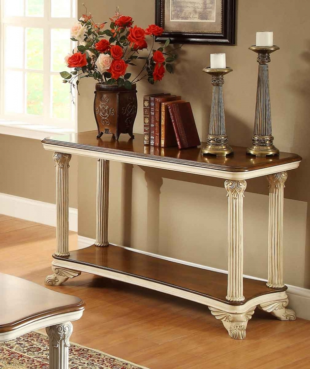 Casanova II Sofa Table - Antique White
