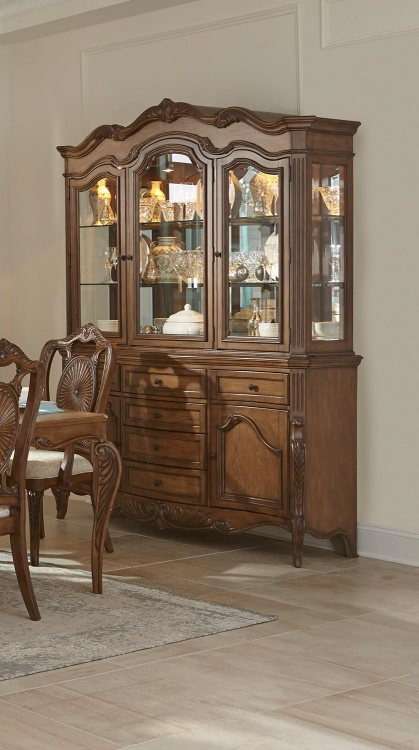 Moorewood Park China Cabinet - Pecan