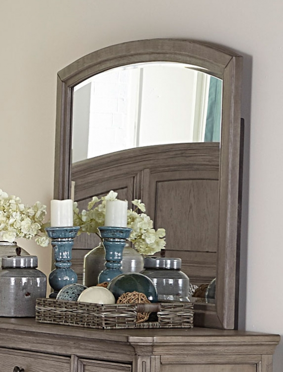 Lavonia Mirror - Wire-brushed Gray