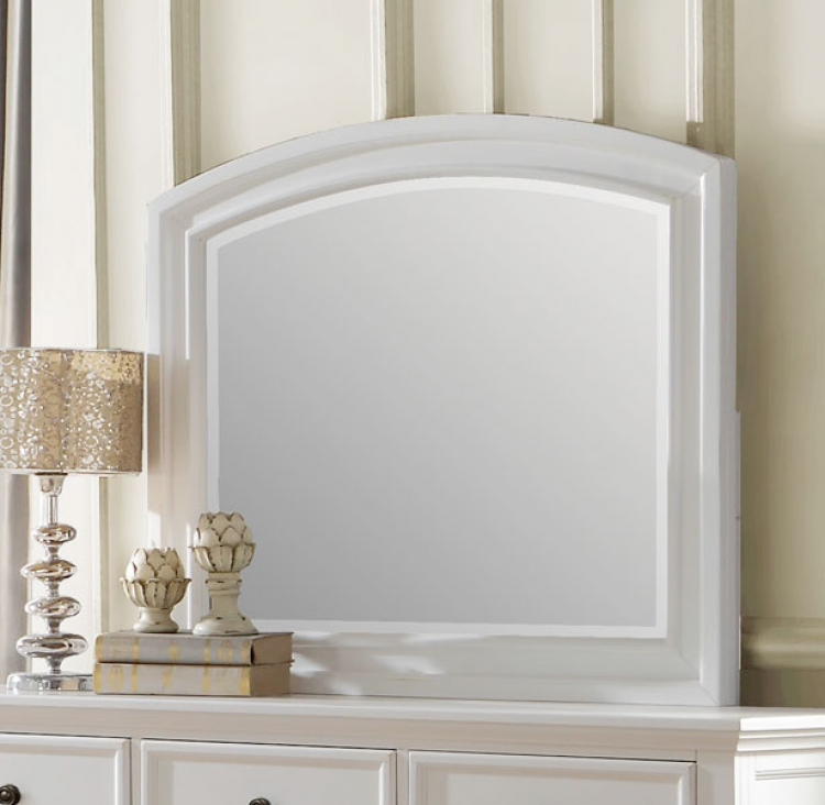 Homelegance Laurelin Mirror - White Sand-Thru