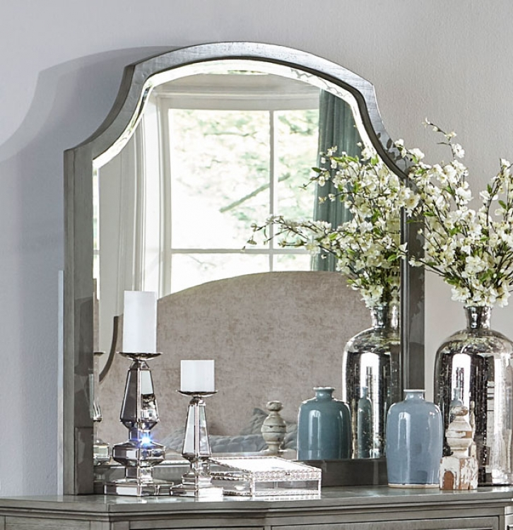 Albright Mirror - Barnwood Grey