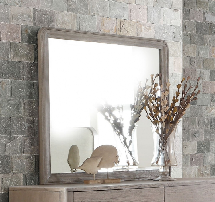 Homelegance Aristide Mirror - Gold and Weathered Grey