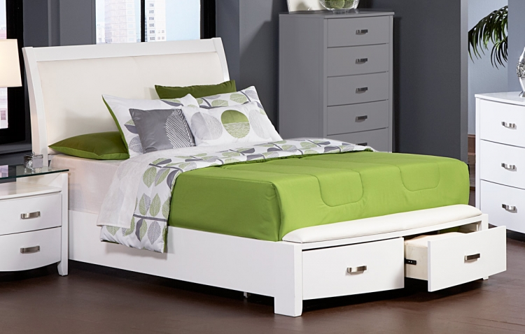 Lyric Platform Bed with Storage - Homelegance