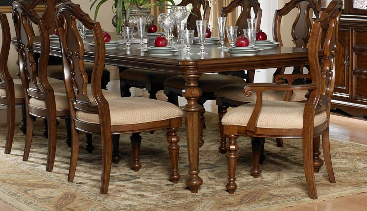 Montvail Dining Table - Warm Brown - Homelegance