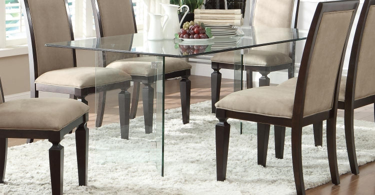 Alouette Rectangle Glass Dining Table