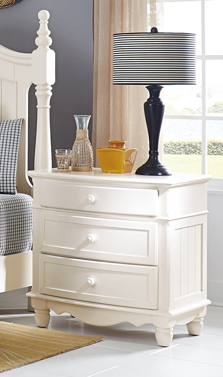 Clementine Night Stand - White