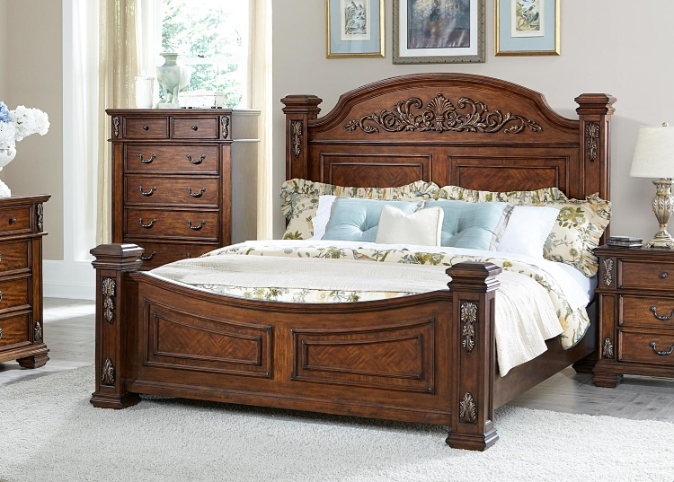 Donata Falls Bed - Warm Brown