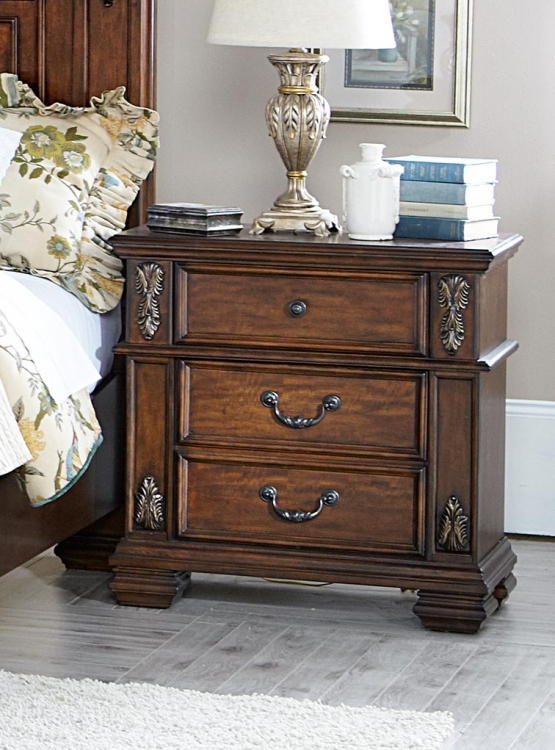 Donata Falls Night Stand - Warm Brown