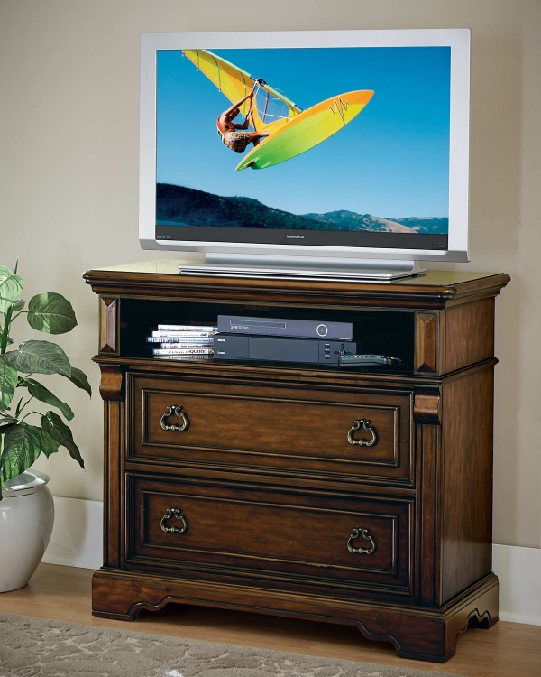 Calloway Park TV Chest - Warm Cherry