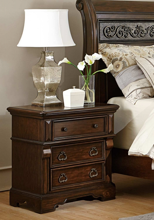 Calloway Park Night Stand - Warm Cherry