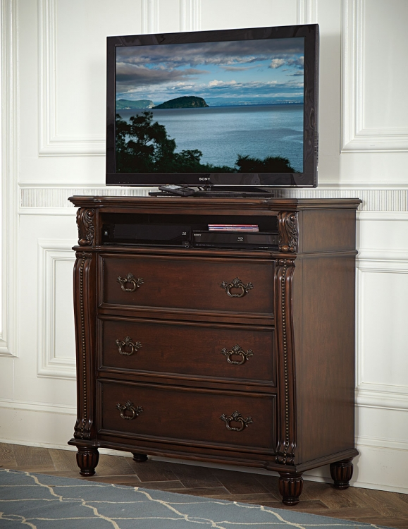 Hadley Row TV Chest - Cherry