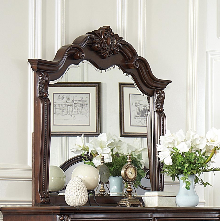Hadley Row Mirror - Cherry