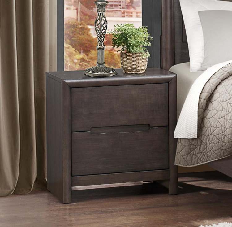 Lavinia Night Stand - Weathered Grey