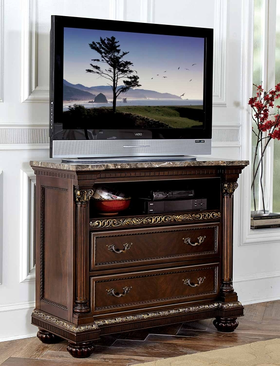 Russian Hill TV Chest - Warm Cherry