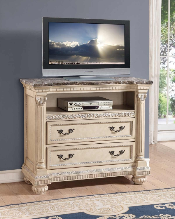 Russian Hill TV Chest - Antique White