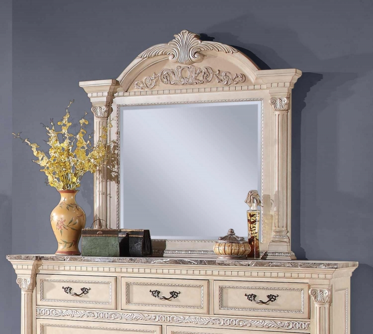 Russian Hill Mirror - Antique White