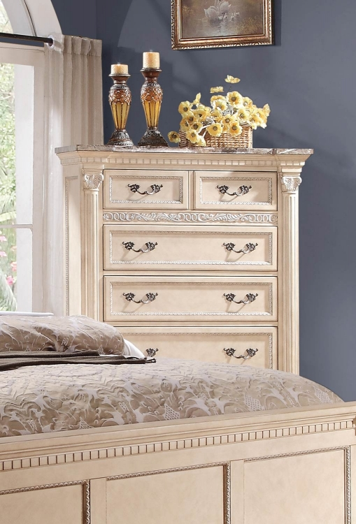 Russian Hill Chest - Antique White