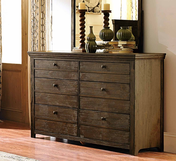 Hardwin Dresser - Weathered Grey Rustic Brown