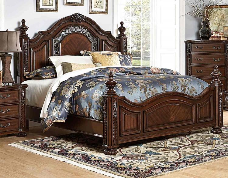 Augustine Court Bed - Rich Brown Cherry