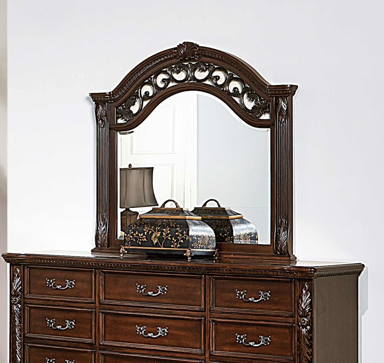 Augustine Court Mirror - Rich Brown Cherry