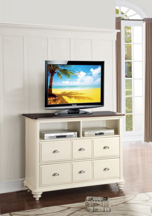 Floresville TV Chest - Antique White