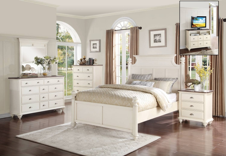 Floresville Bedroom Set - Antique White