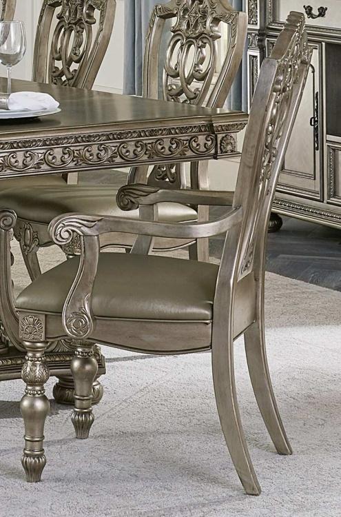 Catalonia Arm Chair - Platinum Gold