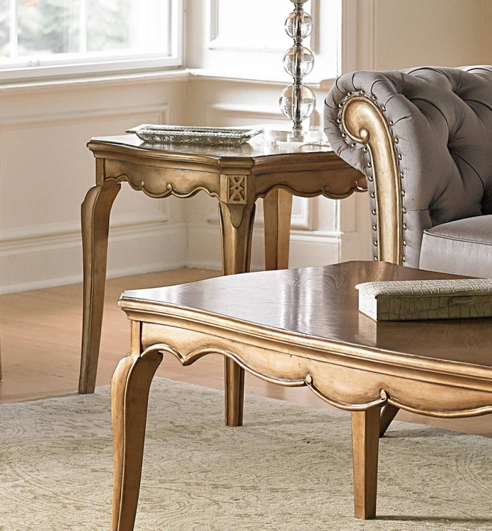 Chambord End Table - Champagne Gold