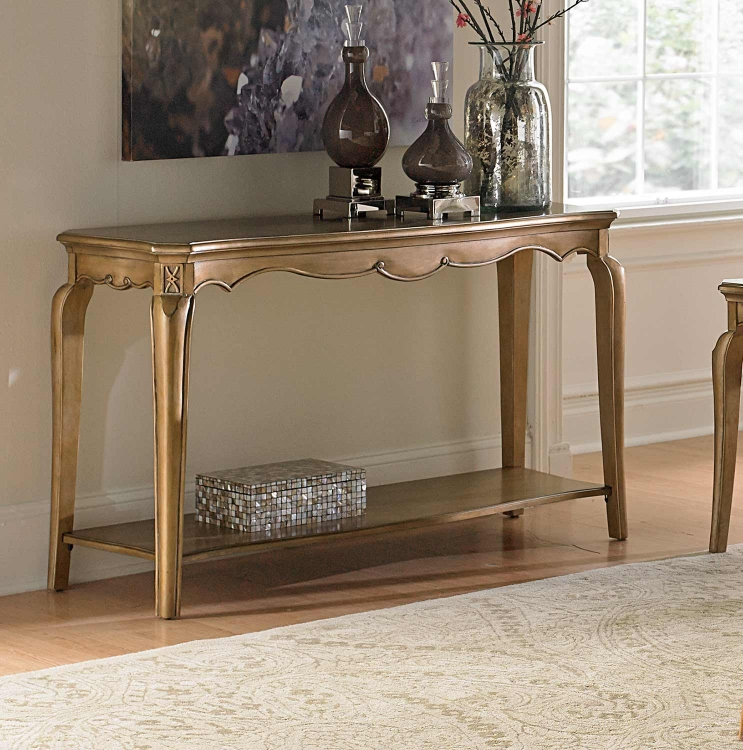 Chambord Sofa Table - Champagne Gold
