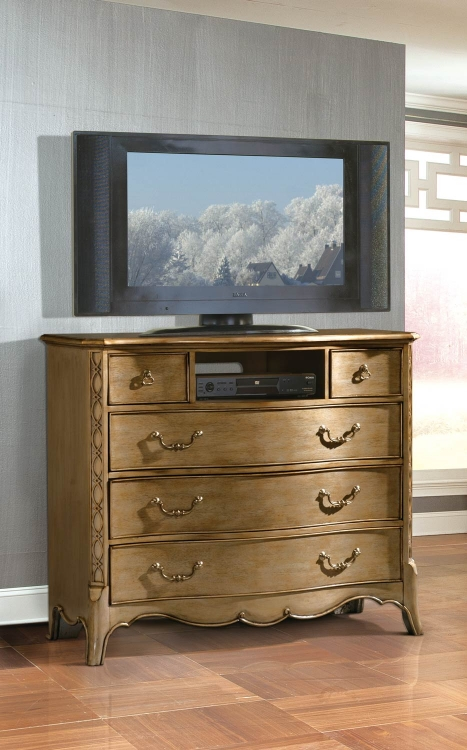 Chambord TV Chest - Champagne Gold