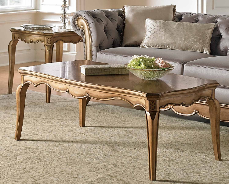 Chambord Cocktail/Coffee Table - Champagne Gold