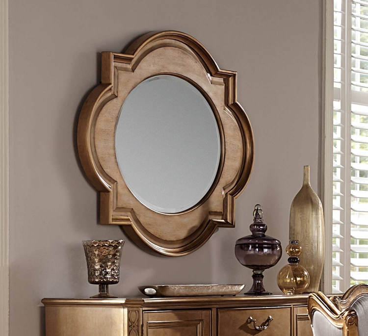 Chambord Server Wall Mirror - Antique Gold