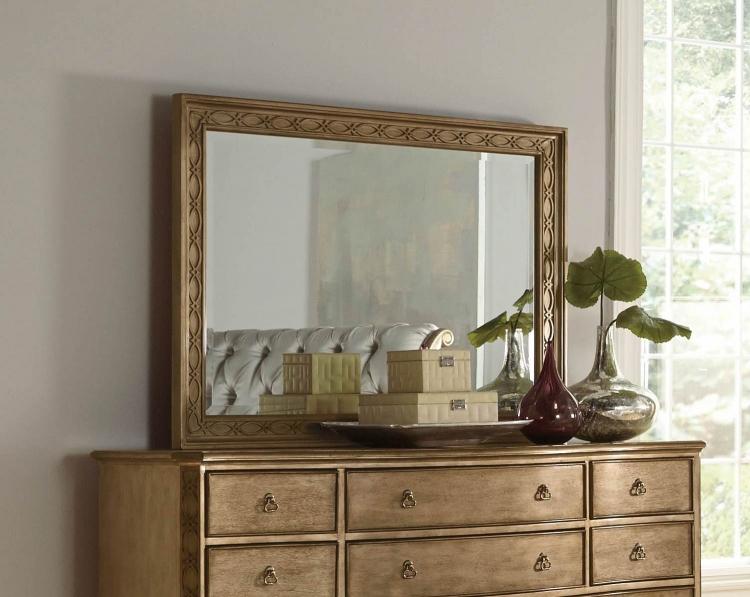 Homelegance Chambord Landscape Mirror - Champagne Gold