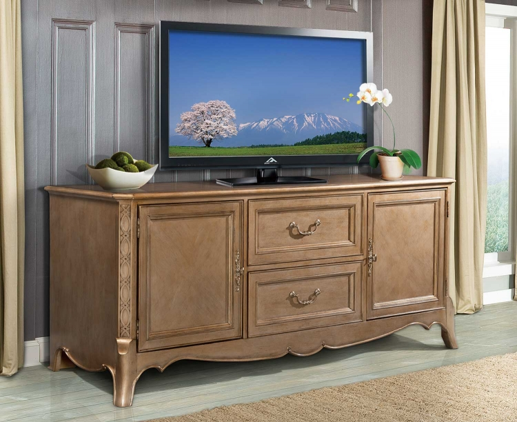 Chambord TV Stand - Champagne Gold