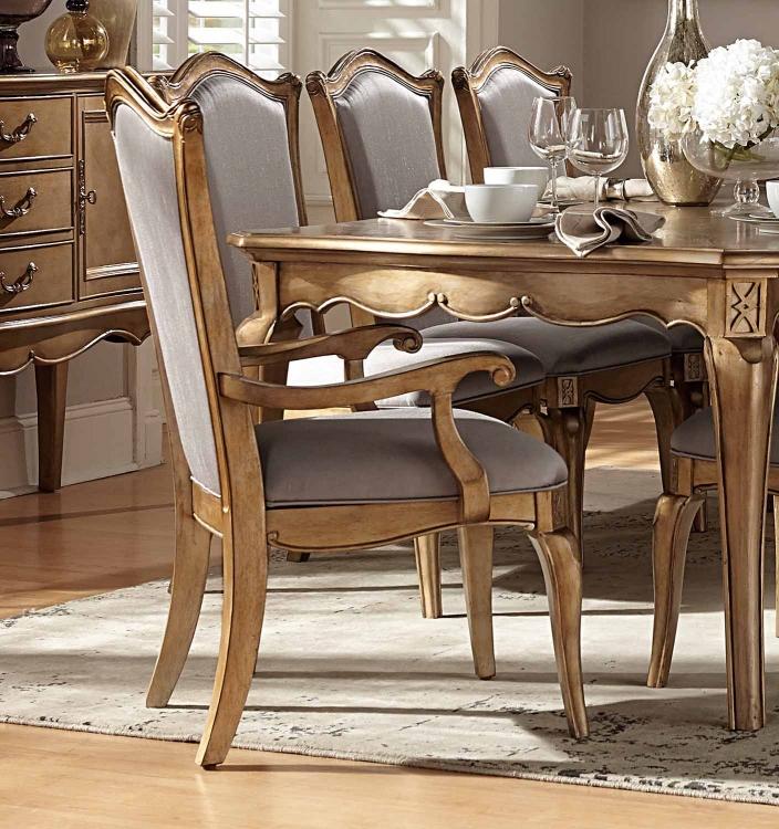 Chambord Arm Chair - Antique Gold