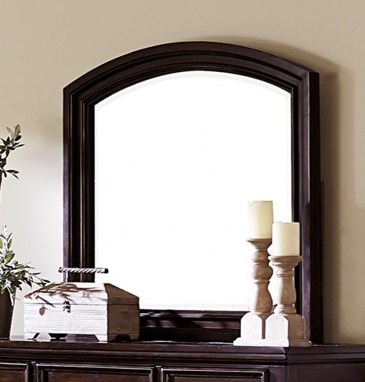 Homelegance Faust Mirror - Dark Cherry